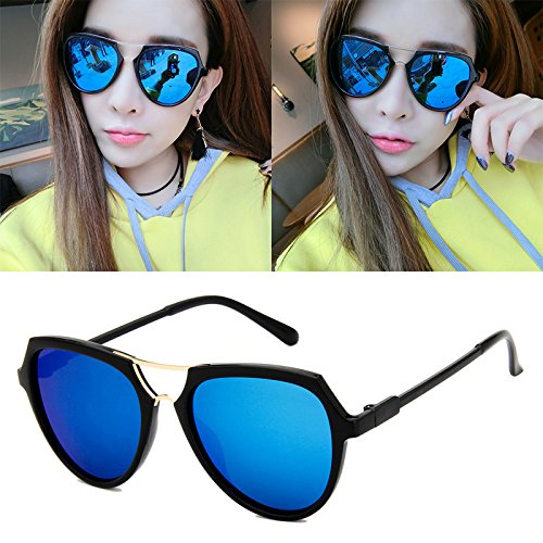 sonnenbrille neue titel lady sonnenbrille, runde gesicht zurück zu alten korea, elegante persönlichkeit, runde augen, star - models,hell blauen merkur (stoff)