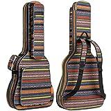 CAHAYA Étui à guitare bohème Étui à guitare vintage Étui à guitare rembourré en éponge de 15,5 mm d'épaisseur pour 40 41 41 42 pouces Guitare acoustique classique