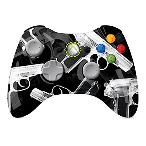 XBOX 360 Regler Wireless-Glossy Xray Pistolen Individuelle Painted- ohne Mods (360 Mod Controller Blau Xbox)