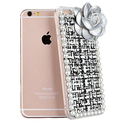 Coque iPhone 6S Liquide Sables Mouvants , We Love Case Bling Glitter Cœur Paillettes Rose Coque pour Apple iPhone 6 / 6S Etui Bumper Dynamique Eau Coque en Plastique Dur Étui de Protection Sparkle Bri Camélia 01