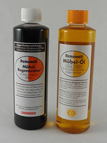 Preisvergleich Produktbild Renuwell Spar-Set Möbel Öl 500 ml + Regenerator 500 ml