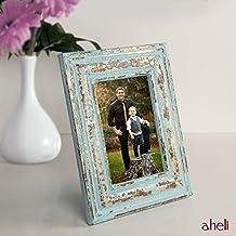 Aheli Vintage Marco de fotos de madera Rectangular Picture Stand Holder Accesorio de mesa para sala
