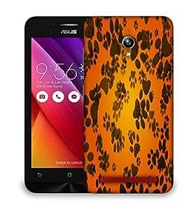 Snoogg dog paws orange background Designer Protective Back Case Cover For Asus Zenfone GO