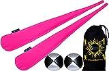 Flames N Games Pro Socken-Poi Set (UV Rosa) Sock Poi (inkl. 2x Beanbags Bälle) + Reisetasche. Swinging Poi und Spinning Pois! Pois für Anfänger und Profis.
