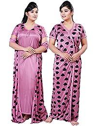 16e886c16 Bailey Free Size Women s Satin Night Gown Nightwear Nightdress Sleepwear 2  PCs Set