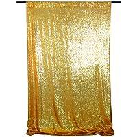 San Tungus Fondo de fotografía lentejuelas Oro Cortina de tela de lentejuelas ...