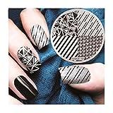 Jaminy DIY Nail art Druckplatte Bild Stamping Platten Maniküre Vorlage Werkzeug (E)
