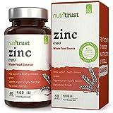 Compresse di zinco 400 IU di Nutritrust®- Formula ad alta potenza da fonti alimentari integrali Aiuta a sostenere un sistema immunitario sano e supporta la corretta funzione enzimatica nel corpo