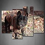 Kunstdruck auf Leinwand Französische Bulldogge