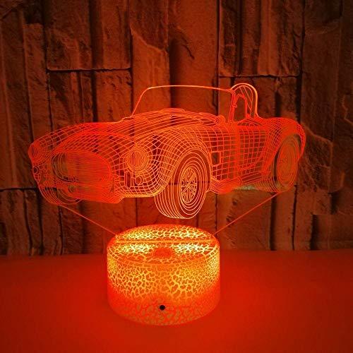 QingMuMu Lámpara de Mesa estéreo Visual de acrílico Visual de la lámpara del Vector USB 3D de la luz LED Colorida del Coche