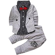FEITONG Recién nacido Ropa del bebé de la muchacha Ciervo Tops Camiseta + Pantalones Polainas Conjunto de 3 piezas