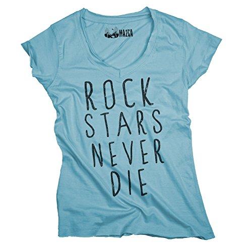 Ma2ca® Ma2ca® Rock Stars Never Die Frauen T-Shirt Sols Mild-atoll-m
