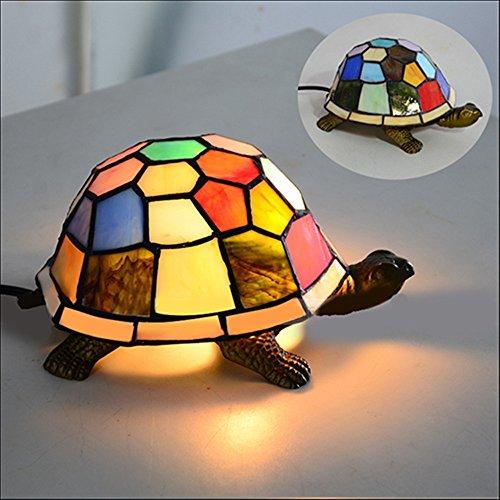 Lampe Tiffany-stil Schildkröte (NIUYAO Retro Industrie Tischlampe Tiffany lampe Table Lamp Schildkröte Lampenschirm Nachtorientierungslicht Innenbeleuchtung Loft Stil 1 Licht)