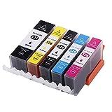CTC Kompatible Druckerpatronen Mit Chip ersetzt PGI-525, Schwarz für Canon Pixma iP4850, iP4950, iX6550, MG4150, MG5150, MG5250, MG5340, MG5350, MG6150, MG6250, MG8150, MG8240, MG8250, MX884, MX885 1PGBK, 1BK, 1C, 1M, 1Y