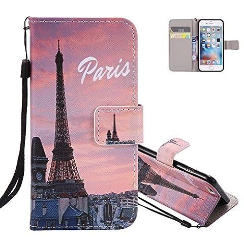 iPhone 7 plus Étui Portefeuille, Aeeque Unique Paris Tour Eiffel