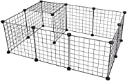CYY 12 Panels Metal Pet Playpen, Small Animals Playpens Cage, Portable Yard Fence Indoor Ideal for Guinea Pigs