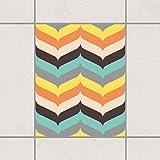 Pattern Design GmbH Fliesen Aufkleber–Fischgrätenmuster Herbst Atmosphäre 25cm x 20cm, Set Größe: 20Stück