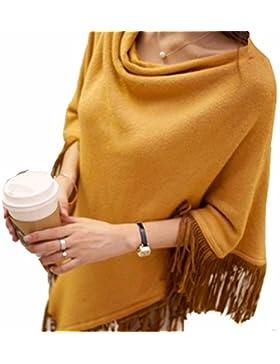yall Un Suéter De La Mujer; Una Franja Con Flecos Sueltos Irregulares; Un Montón De Cabezas; Un Montón; Un Collar...