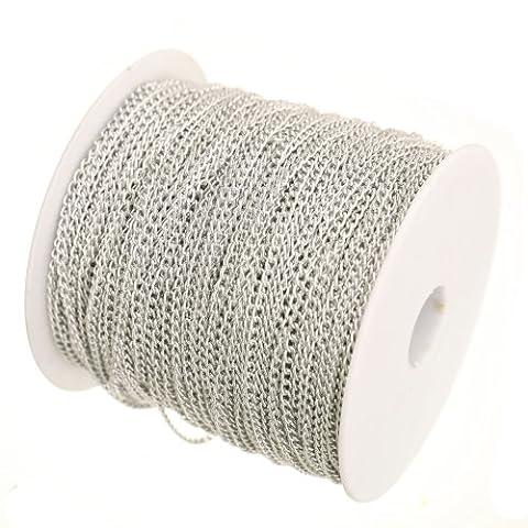 ILOVEDIY 5 m chaîne maille maillon chainette pour Création de bijoux