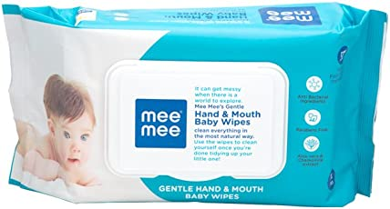 Mee Mee Gentle Hand and Mouth Baby Wipes (72 Sheets)