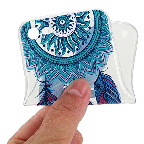 Apple iPhone 7 Hülle,iPhone 7 Silikon TPU Gel Case,Ekakashop Ultra dünn Slim Kreativ Design Durchsichtig Transparent Crystal Klar Flexible Gel Case Schutzhülle Defender Bumper Tasche Hüllen für Apple  Blaue Traumfänger