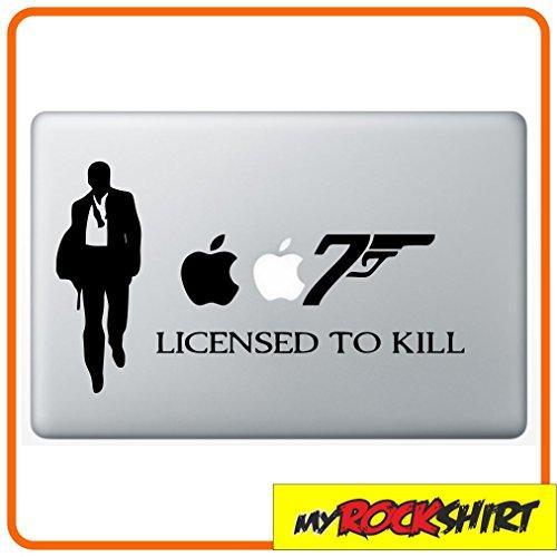 Preisvergleich Produktbild 007 Bond 2 Macbook Aufkleber Skin Mac für alle Macbooks passend