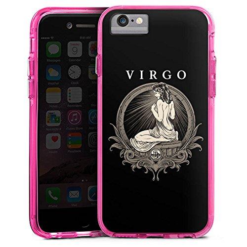 Apple iPhone X Bumper Hülle Bumper Case Glitzer Hülle Jungfrau Sternzeichen Astrologie Bumper Case transparent pink