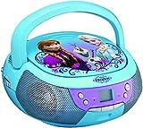 ekids FR-430 Disney Frozen CD-Player mit Mikrofon für Kinder Tragbar Anna und ELSA Blau