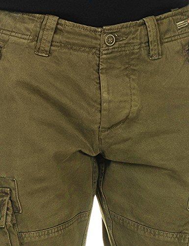Superdry Men's Core Heavy Cargo Men's Olive Pants 100% Cotton Vert
