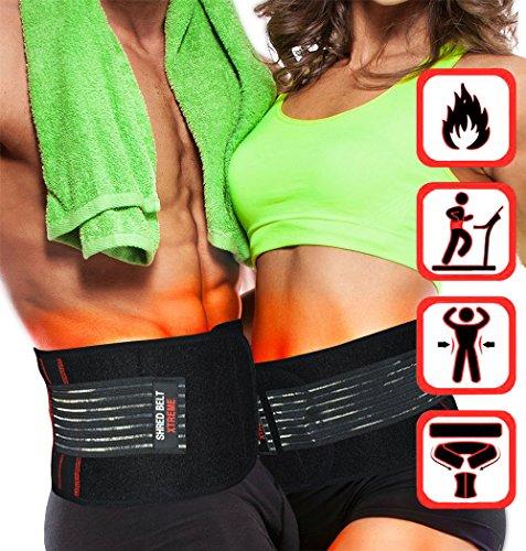 Gesamt-minuten Iron (Shred Belt Xtreme - Thermogenischer Hüftweggürtel, Bauchfettverbrenner, Gewichtsverlust, Reduktionsgürtel, Hüftverkleinerer (Large))