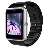 GT08 SmartWatch,facebook whatsapp Bluetooth SmartWatch Handy-Uhr für Smartphone Samsung iphone HTC Android Phone with Kamera SIM in Silver