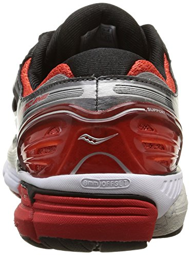 Saucony - Hurricane 17 - , homme, multicolore multicolore (Red/Grey/Silver)