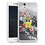 DeinDesign ASUS Padfone S Hülle Silikon Case Schutz Cover Spongebob Fanartikel Merchandise Spongebob Crew