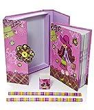 Mousehouse Gifts Fille de mode Filles Cadeau Enfants Ensemble de Cahiers Papeterie