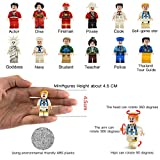 Mini Figures Set-24 Piece Minifigures Set of Professions, Building Bricks of Community People from Different Industries Complete, Building Blocks Kids Educational Toy Gift (24 pieces)