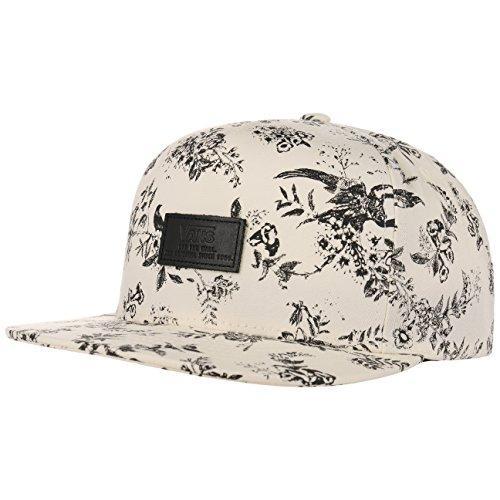 Snapback Cap Flatbrim Flat Brim Basecap Baseballcap Baumwollcap Kappe Vans Cap Basecap (One Size - cremeweiß) (Weiße Vans-snapback)