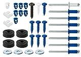 Cora 000116012 Kit Fissaggio Targhe Completo, 8 Rivetti, 8 Viti, 8 Bottoni, 8 Rondelle, 4 Viti, 2 Fermi, Nero
