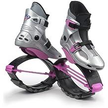 KangooJumps Rebound Shoes Power SE - Botas infantiles de salto para fitness multicolor Silver/Pink Talla:36-39