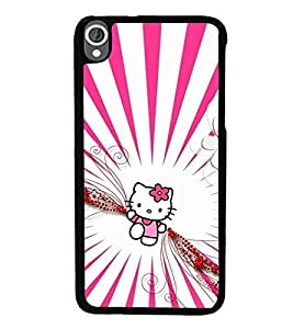 Vizagbeats Pink Doll Back Case Cover for HTC DESIRE 820