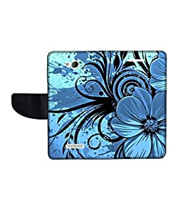 KolorEdge Printed Flip Cover For HTC Desire 616 Multicolor - (50KeMLogo09945HTC616)