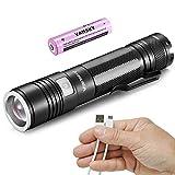 Vansky® Mini Torcia LED Ricaricabile USB con LED CREE XPE2...