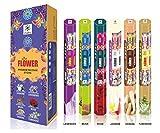 Chakra Fiore serie Premium Aroma Sticks - Feel the blossomy Aroma - 120 Incense Sticks - Utilizzare a Home Office - Confezione da 6 bastoni fragranza naturale - di lunga durata Incensi profumate
