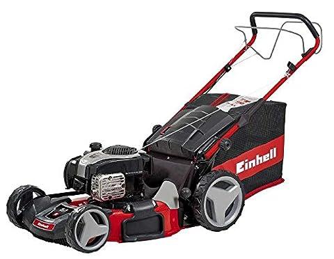 Einhell Benzin Rasenmäher GE-PM 53 S HW B&S (2,3 kW, 150 cm³, Schnittbreite 53 cm, Schnitthöhenverstellung 6-fach 25-70 mm, 80 L,
