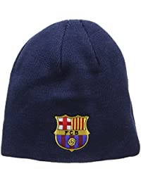 FC Barcelona Barca Football Soccer Core Roll Down Knitted Beanie Hat Adult c2a8a022583