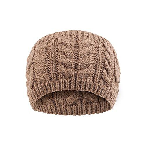 Mädchen Damen Chucky Strick breit Crochet Flora Twist Stil Haar Band Haarband Gr. One Size, braun