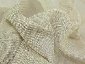 Quality-Fabrics Tissu de gaze de qualité standard Vendu au mètre Naturel Largeur 91cm