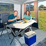 Berger Zeltteppich, blau, robust, ideal für Zelte, Balkone, Terrassen, 250 x 500 cm -