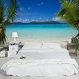 Apalis Vliestapete Perfect Maledives Fototapete Breit   Vlies Tapete Wandtapete Wandbild Foto 3D Fototapete für Schlafzimmer Wohnzimmer Küche   blau, 94766