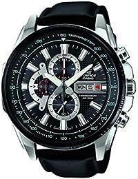 Casio EFR-549L-1AVUEF - Reloj con correa de piel para hombre, color negro
