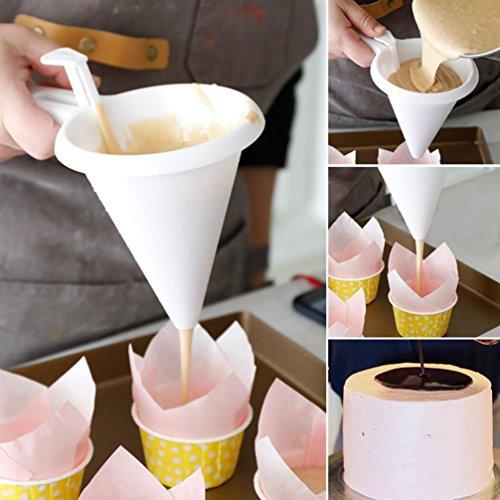 Imbuto yuyoug regolabile cioccolato per cottura strumenti cake decorating kitchen gadget easy pour confectionary funnel